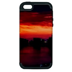 New York City Urban Skyline Harbor Apple Iphone 5 Hardshell Case (pc+silicone)