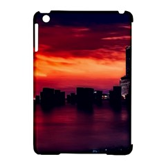 New York City Urban Skyline Harbor Apple Ipad Mini Hardshell Case (compatible With Smart Cover) by BangZart