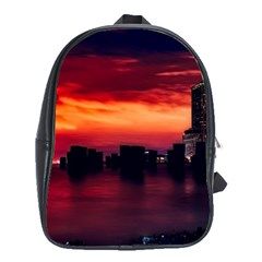 New York City Urban Skyline Harbor School Bag (xl) by BangZart