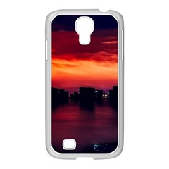 New York City Urban Skyline Harbor Samsung Galaxy S4 I9500/ I9505 Case (white)
