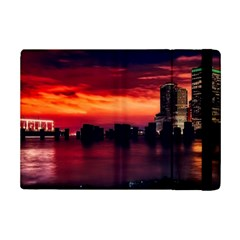 New York City Urban Skyline Harbor Ipad Mini 2 Flip Cases