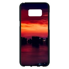 New York City Urban Skyline Harbor Samsung Galaxy S8 Plus Black Seamless Case