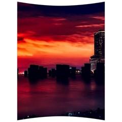 New York City Urban Skyline Harbor Back Support Cushion