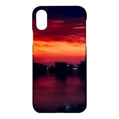 New York City Urban Skyline Harbor Apple Iphone X Hardshell Case by BangZart