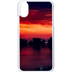 New York City Urban Skyline Harbor Apple Iphone X Seamless Case (white) by BangZart