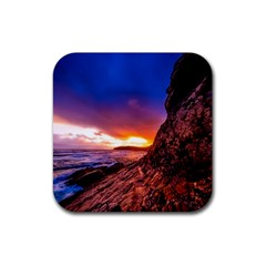 South Africa Sea Ocean Hdr Sky Rubber Coaster (square)