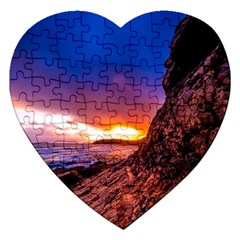 South Africa Sea Ocean Hdr Sky Jigsaw Puzzle (heart)