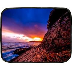 South Africa Sea Ocean Hdr Sky Fleece Blanket (mini)