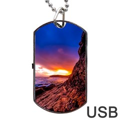 South Africa Sea Ocean Hdr Sky Dog Tag Usb Flash (two Sides)