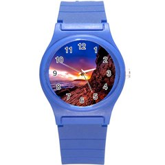 South Africa Sea Ocean Hdr Sky Round Plastic Sport Watch (s)