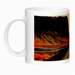Iceland Sky Clouds Sunset Night Luminous Mugs by BangZart