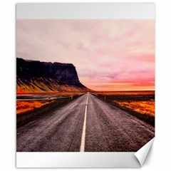 Iceland Sky Clouds Sunset Canvas 8  X 10