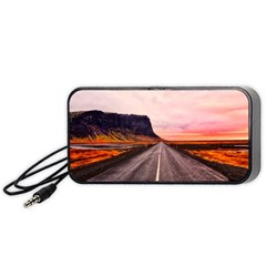 Iceland Sky Clouds Sunset Portable Speaker by BangZart