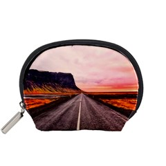 Iceland Sky Clouds Sunset Accessory Pouches (small)