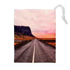 Iceland Sky Clouds Sunset Drawstring Pouches (extra Large)