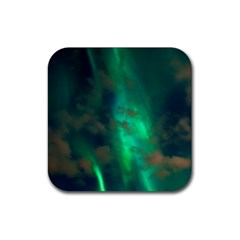 Northern Lights Plasma Sky Rubber Coaster (square)