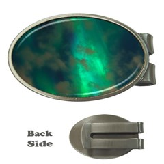 Northern Lights Plasma Sky Money Clips (oval)