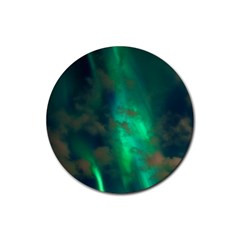 Northern Lights Plasma Sky Rubber Coaster (round)