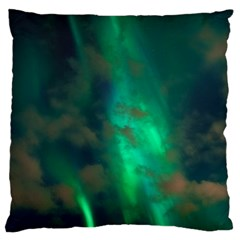 Northern Lights Plasma Sky Large Flano Cushion Case (two Sides)