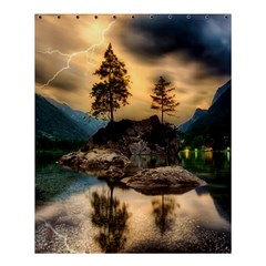 Sunset Dusk Sky Clouds Lightning Shower Curtain 60  X 72  (medium)  by BangZart