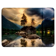 Sunset Dusk Sky Clouds Lightning Samsung Galaxy Tab 7  P1000 Flip Case