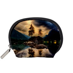 Sunset Dusk Sky Clouds Lightning Accessory Pouches (small)
