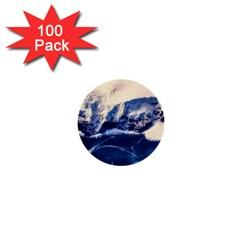 Antarctica Mountains Sunrise Snow 1  Mini Buttons (100 Pack)