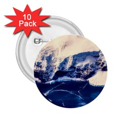 Antarctica Mountains Sunrise Snow 2 25  Buttons (10 Pack)