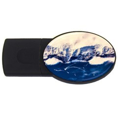 Antarctica Mountains Sunrise Snow Usb Flash Drive Oval (2 Gb)