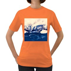Antarctica Mountains Sunrise Snow Women s Dark T Shirt