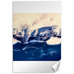 Antarctica Mountains Sunrise Snow Canvas 20  X 30