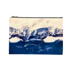 Antarctica Mountains Sunrise Snow Cosmetic Bag (large)