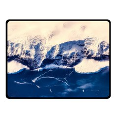 Antarctica Mountains Sunrise Snow Double Sided Fleece Blanket (small)  by BangZart