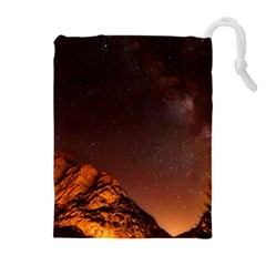Italy Night Evening Stars Drawstring Pouches (extra Large)