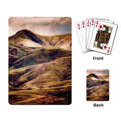 Iceland Mountains Sky Clouds Playing Card