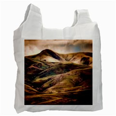 Iceland Mountains Sky Clouds Recycle Bag (two Side)