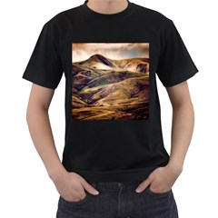 Iceland Mountains Sky Clouds Men s T Shirt (black)