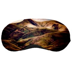 Iceland Mountains Sky Clouds Sleeping Masks