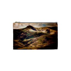 Iceland Mountains Sky Clouds Cosmetic Bag (small)