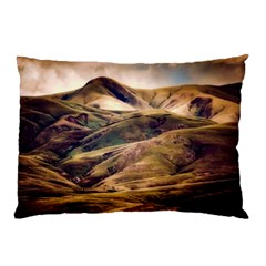 Iceland Mountains Sky Clouds Pillow Case (two Sides) by BangZart