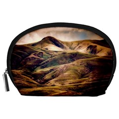 Iceland Mountains Sky Clouds Accessory Pouches (large)