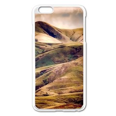 Iceland Mountains Sky Clouds Apple Iphone 6 Plus/6s Plus Enamel White Case