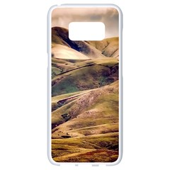 Iceland Mountains Sky Clouds Samsung Galaxy S8 White Seamless Case