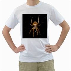Insect Macro Spider Colombia Men s T Shirt (white) (two Sided)