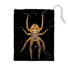 Insect Macro Spider Colombia Drawstring Pouches (extra Large)