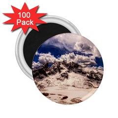 Italy Landscape Mountains Winter 2 25  Magnets (100 Pack)
