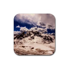 Italy Landscape Mountains Winter Rubber Square Coaster (4 Pack)  by BangZart