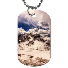 Italy Landscape Mountains Winter Dog Tag (two Sides)