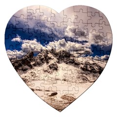 Italy Landscape Mountains Winter Jigsaw Puzzle (heart) by BangZart