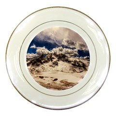 Italy Landscape Mountains Winter Porcelain Plates by BangZart